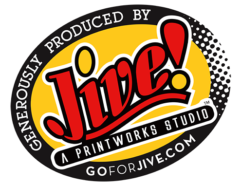 Go for Jive; black and white logo