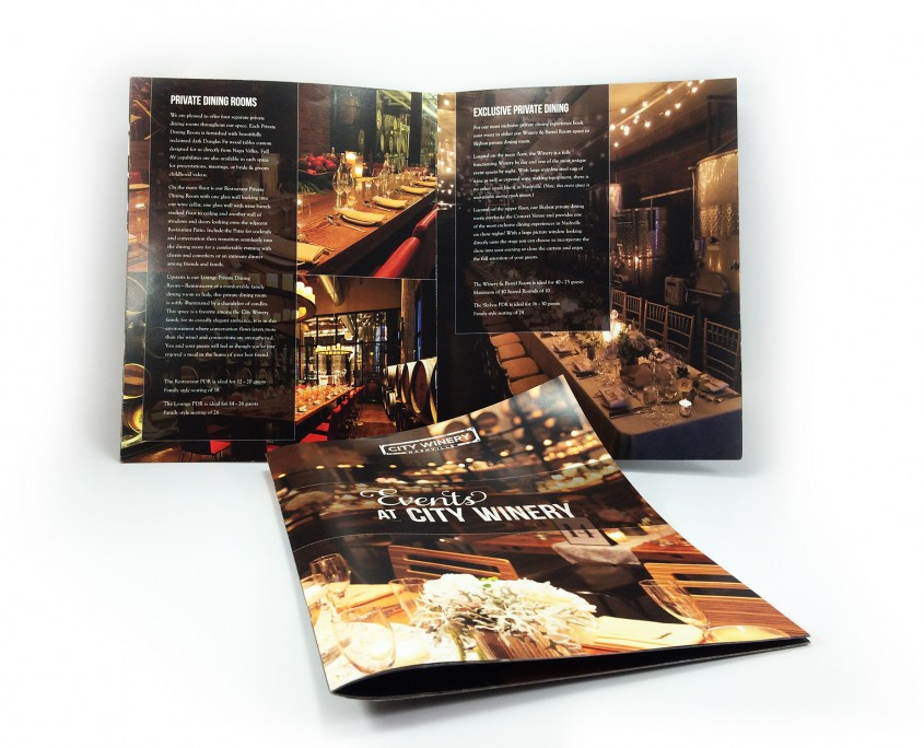 Color brochure tabloid for City Winery