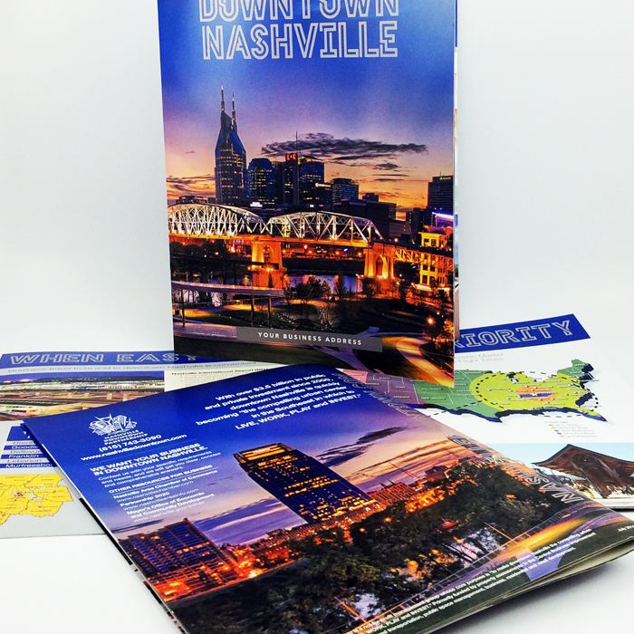 City of Nashville media kit printed by Jive!