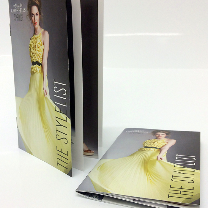 Stylish fashion booklet printing by Jive! digital print studio