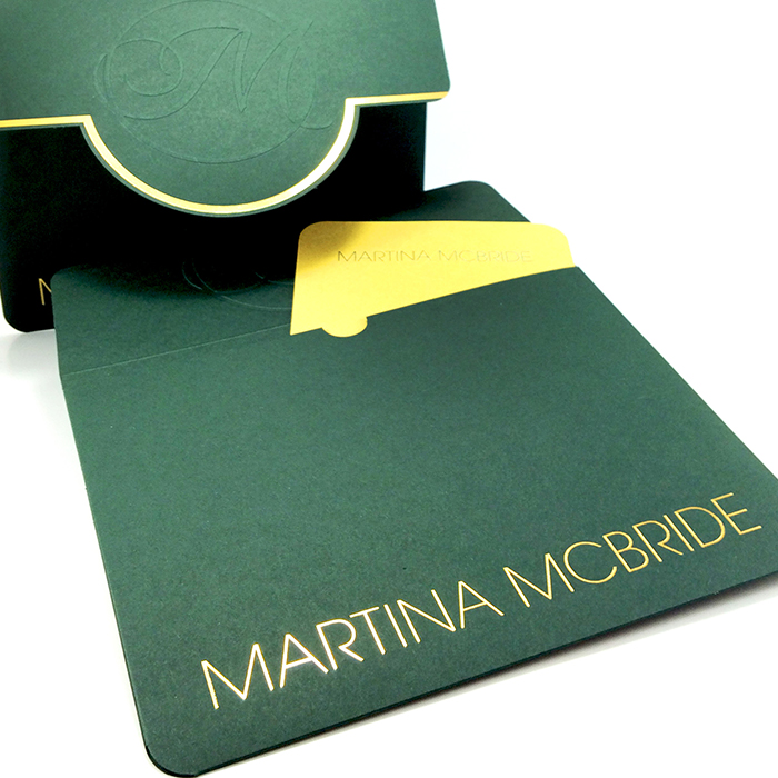 VIP Ticket envelope for Martina McBride designed and printed by Jive!